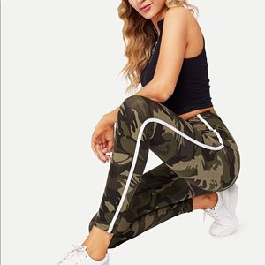 Medium camo and white work out or lounge leggings